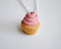 Pink Frosting Cupcake by ClayRunway