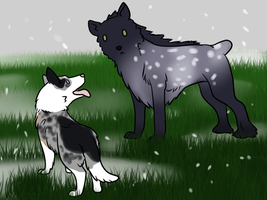 Playdate in the snow! by Alcemistnv
