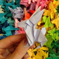 1000 Origami Bunnies by abunnydance