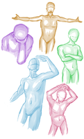male poses by MauveBell