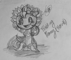 PvZ Heroes-Blasting Peony(not my oc) by Velatina-young
