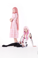 Mana and Inori cosplay by Mell-laen