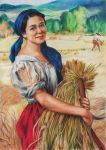 Maiden with Palay Stalks (colored pencil) by Abrem008