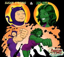 TLIID - Adventure Time Susan Strong and She-Hulk by Nick-Perks