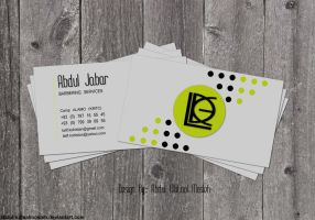 Abdul Jabar Business Card by AbdulMotaalMosleh