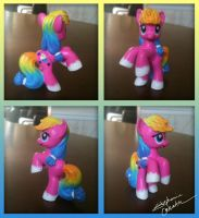 Mini MLP Sparkle Cake Custom by StephanieCassataArt