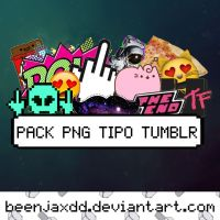 Pack PNG Tipo Tumblr by beenjaxdd