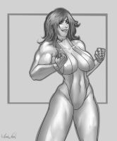 She-Hulk Gray by megaween