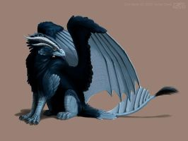 Blue Gryphon by KaiserFlames