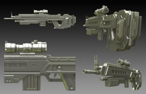 Semi-Auto Plasma Rifle by DeathMetalDan