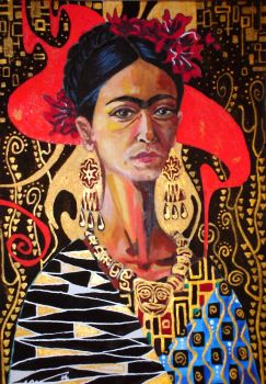 Frida and Klimt's Conversation by markeee