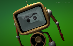 Mike the TV Wallpaper by FluffyBlueCow