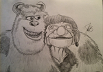 Sulley and The Witch by artefection