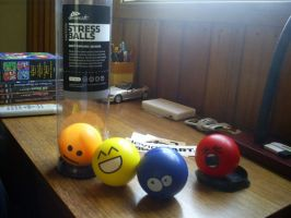 Emoticon Stress Balls by javeman