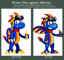 Draw this again Meme: Digital Cobalt by Cyberguy64
