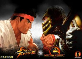 MK vs SF - Scorpion vs Ryu 'Promo' by 2321351scorpion