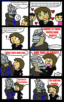 Meeting Garrus by Pup-The-Derp