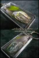 Feather Painting Keychain 6 by dittin03