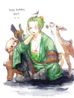 Happy Birthday Zoro by Chulmardani