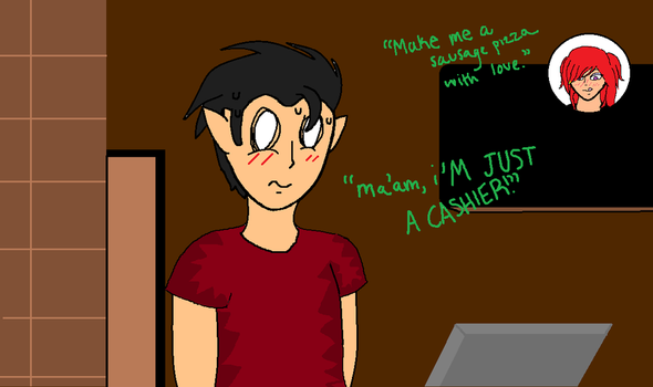 I'm just a cashier by TMM-Maddie