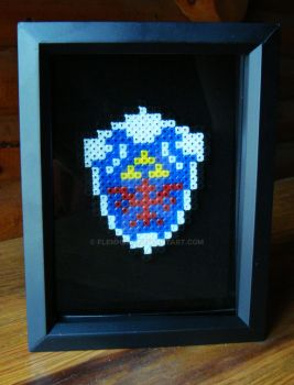 Link's Shield Shadowbox by Flemhead