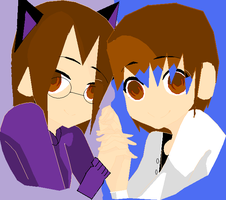 Me and Kar holding hands by DomoDC