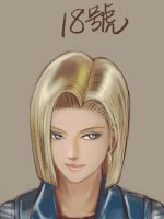 android 18 sketch by DYKC