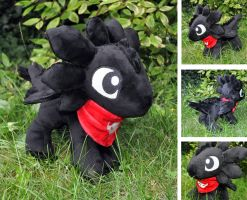 Chibi Toothless with bandana by Sethaa