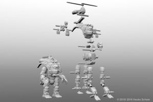 3D printed transforming robot - joint setup by hauke3000