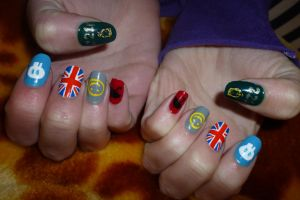 Sherlock Nail Art by whosherlokid