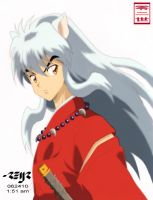 inuyasha colored by reijr