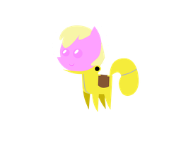Puppy smiles Pointy Ponies Yellow Ghost by aborrozakale