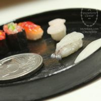 1:6 scale miniature Raw Prawn Nigiri by Snowfern