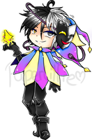Chibi Dimentio by PaperLillie