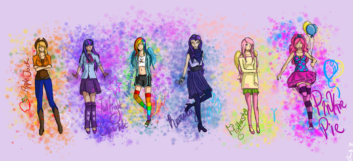 MLP Humans by MelodicArtist