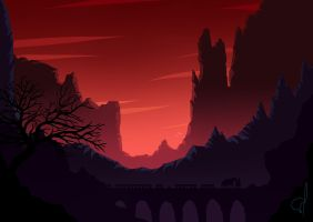 Red Mountains by OGARart