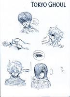 Tokyo Ghoul Sketches by LacriChan