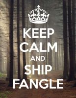 Keep Calm and Ship Fangle by Amanddica