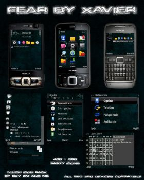Fear Symbian theme by Xavier-Themes
