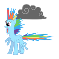 Rainbow Dash Shocked by MAJORA64