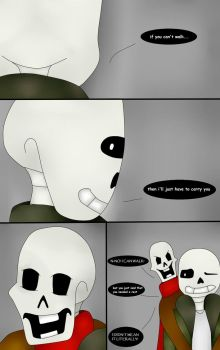 I'll Just Have To Carry You (Undertale Comic) Pg 3 by ImaBanana84