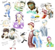 Cars Sketchdump by MidoriLied