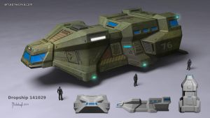 scifi dropship concept by dm3da
