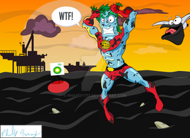 Captain Planet vs. BP Oil by phandy777