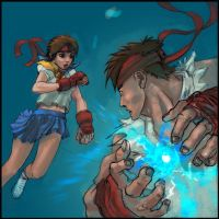 Sakura vs Ryu by JJH