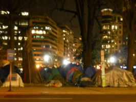 Occupy DC and Teepee by Chlodulfa