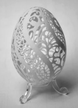 carved goose eggshell 17042013 by peregrin71