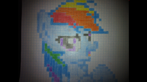 Rainbow Dash in Traditional Pixel Art by LegoGuy87