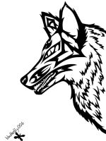 Tribal Wolf by blackbutterfly006