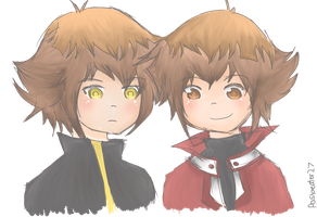 Haou and  Judai by PastaEater27